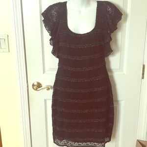 Guess Black and silver Lace Dress